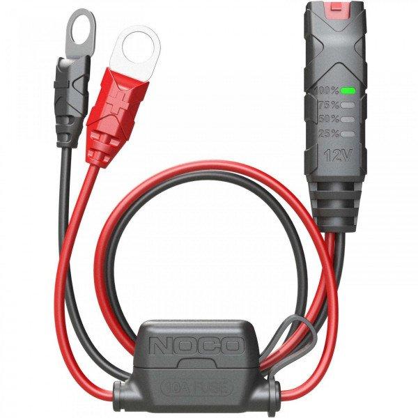 GC015 12 volt 12v XL extra large eyelet terminal battery charge indicator led light xconnect with fuse front 3